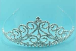 Clear/Silver Multiple Waves Round Stone Tiara