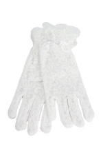 Lace Gloves 3-6 Child's White