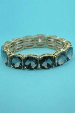 Black Diamond/Gold Mine Stone 1 Line Stretch Bracelet