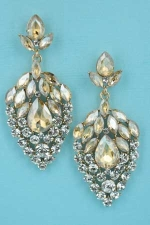 Light Colorado/Clear Gold Strawberry Shape 2.5'' Post Earring