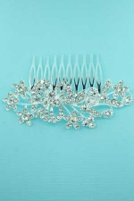 Clear/Silver Multiple Flowers Hair Comb