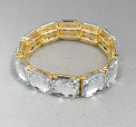 Clear Glove Square Stone Stretch Bracelet
