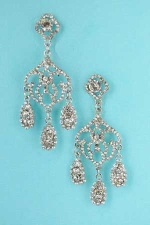 CLear/Silver Chandelier Earring