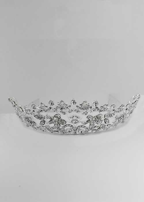 Clear/Silver Branch Flower Shape Tiara