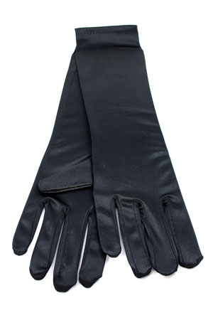 "Satin Gloves 8"" Black"