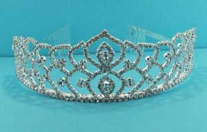 Clear/Silver Marquise Shape Round Stone Tiara