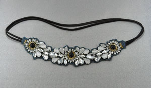 White Stone Cluster Head Band
