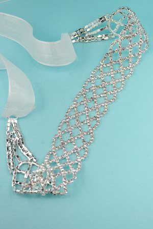 Clear Rhinestone Belt With Sash