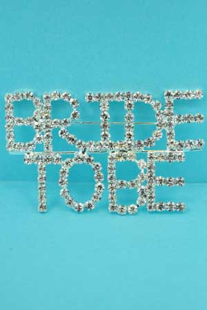 Clear Silver Brite To Be Pin