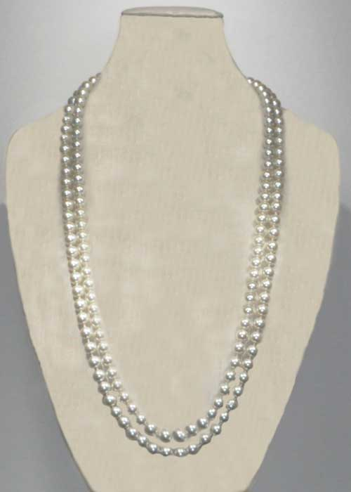 """Pearl/ 60"""" 8MM Pearl Necklace"""