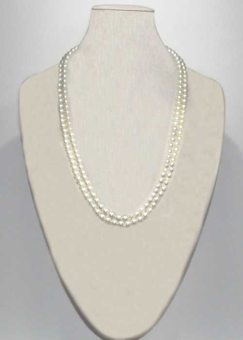 "Pearl/ 70"" 10MM Pear Necklace"