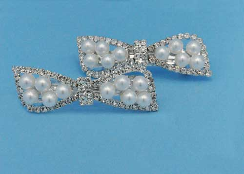 Pearl/Clear Bow Tie Shape Headband
