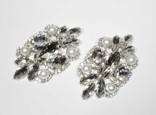 Clear/Silver Jewelry Accessories Shoes Buckle