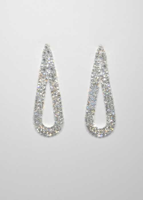 Clear/Silver Small Round Stone Earring