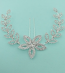 Clear/Silver Rhinestone Flower With Leaves Hair Bobby Pin