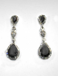 Hematite/Clear SilverThree Linked Stone Post Earring