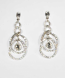 Clear/Silver Four Linked Pieces Earrings