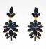 Montana Navy/Gold Marquise/Round Stone Post Earring