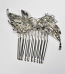 Clear/Pearl Flower Shape Combs