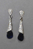 Montana Navy/Clear Silver Stick Dangle Post Earring