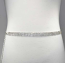 Clear/Silver Five Rows Silver Round Stone Belt