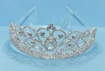 Clear/Silver Multiple Round Center Oval Stone Tiara