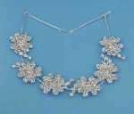 Clear/Silver Multiple Flower Headband