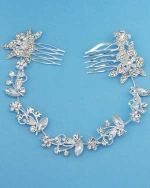 Clear/Silver Multiple Leaves Headband