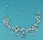 Clear/Silver Multiple Flower Shape Round Stone Hair