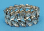 Light Colorado/Gold Two Rows Marquise Stone Stretch Bracelet