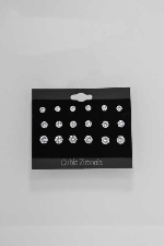 Cubic Zirconia/Silver Growing Round Stone Post Earring