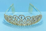 Clear/Gold 8 Shape Round Stone Tiara