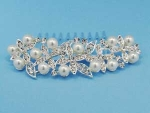 Pearl/Clear Round/Flower Shape Comb