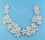 Pearl/Clear Multiple Flower Shape Headband