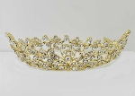 Clear/Gold Branch Flower Shape Tiara
