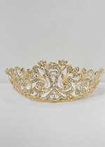 Clear/Gold Princess Flower Shape Tiara