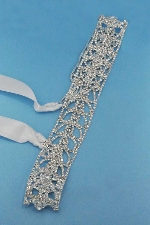Clear/Silver Multiple Small Round Stone Belt