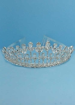 Clear/Silver Multiple Growing Planst Shape Tiara