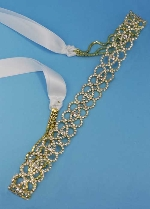 Clear/Gold Small Round Stone Belt