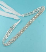 Clear Silver Small/Medium Round Stone Belt