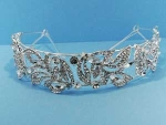 Clear/Silver Leaves Shape Headband