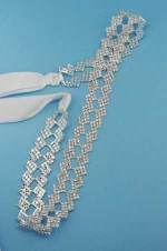 Clear/Silver Two Rows Star Shape Belt