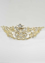 Clear/Gold Branch Flower Tiara