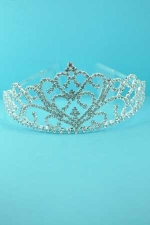 Clear/Silver Framed Tiara Round Stone