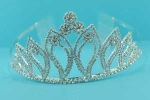 Clear/Multiple Round Stone Pearshape Tiara