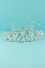Clear/Silver Pointy Top Multi Stone Tiara