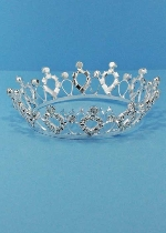Clear/Silver Small Round Tiara