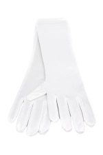 "Satin Gloves 8"" White"