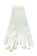 "Satin Gloves 8"" Ivory"