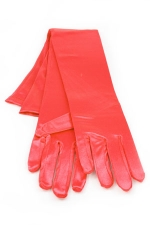"Satin Gloves 16"" Red"